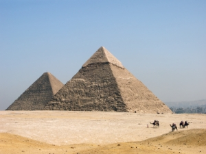 The pyramid of Khephren (Khafre)